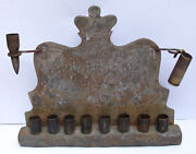 Ww2 Judaica Menorah Wwii Jewish Judaism Camp Ghetto Bullet War Art Museum Item