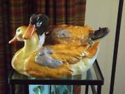 2 Large Herend Ducks Figurines 15 Long 8 Tall 10 Wide Mint Condition Hungry