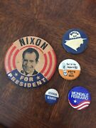 Vintage Presidential Campaign Button Pin. Lot Of 5.
