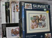 Lot Of 11 Cross Stitch Kits Bears All New 3 Opened Sunset Janlynn Bucilla And More