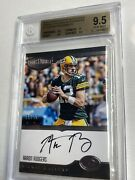 Aaron Rodgers 2016 Panini Plates Patches Signal Caller 8/10 Bgs 9.5 Auto 10 Pop1