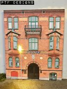 G Scale Scratch Built Police Station 2 Building Front-flat W/ Led