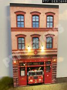 G Scale Scratch Built Fire House Department Station Led Front/flat Piko Lgb