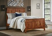 Quick Ship Amish Mission Arts And Crafts Bed Solid Wood Inlays Boulder Creek