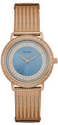Watch Woman Guess Willow W0836l1 Of Stainless Steel Plated Gold Pink Rose