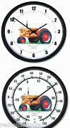 New Minneapolis Moline Model U Tractor Clock And Thermometer Set 10 Round Dials