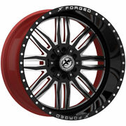 20x10 Xfx 303 Red Black Mill Rims Forged Wheels 33 Mt Tires Fit Chevy Ford Gmc