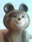 1980 Mishka Bear Mascot Vintage Olympic Games Porcelain Figurine Moscow Russian