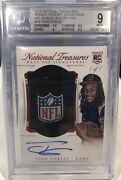 2015 National Treasures Hats Off Todd Gurley Rookie Auto 1/1 Bgs 9 Mint
