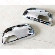 2pcs Auto Chrome Abs Front Rearview Mirror Cover Frame For Toyota Rav4 2009-2012
