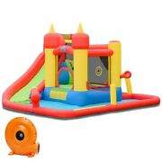 Inflatable Water Slide Jumping Bounce House With 740 W Blower/ Ships To Us Only