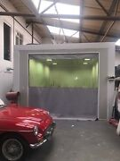 Grey And Clear Heavy Duty Garage Door Entry Curtain Divider 10 Ft High X 9 Ft High