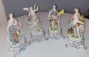 Antique Chelsea Style Porcelain Figurines. Set Of 4. Late 19th Century. Ex. Cond