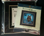 Mill Hill 2019 Buttons And Beads Midnight Owl Bundle Includes Frame, Floss And Linen