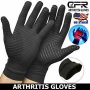 Copper Arthritis Gloves Compression Hand Support Fit Joint Pain Relief Sports