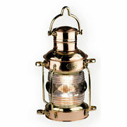 Anchor Oil Lamp Brass And Copper Lantern 12 Hanging Camp Light Nautical Halloween