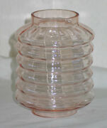 Vintage Light Pink Chinese / Japanese Lantern Replacement Glass - Very Old