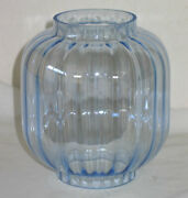 Vintage Sky Blue Chinese / Japanese Lantern Replacement Iridescent Glass / Gourd