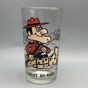 Dudley Do-right Pepsi Glass Collector Series 16 Oz. P.a.t. Ward Black Letters