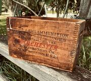 Antique Winchester Repeating Arms Co. Wooden 12 Gage Shotgun Shell Box Look Old