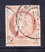 French Cols General Issue 1876 Sg12 2c Brown On Buff Fine Used 4 Margs Cat Andpound700