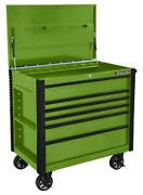 Extreme Tools-ex4106tcgnbk 41in. 6 Drawer Flip Top Deluxe Tool Cart With Bump...