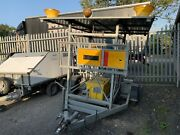 Trailer Mounted Roadsigns With Battery Powered Flashing Beacons