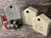 New Magenta Christmas Peace,joy, Hope With Star Table Decoration Ll By Magenta