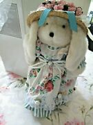 Avon Fine Collectibles Mrs. Rose Hare Teddy Bear With Metal Standnib1997
