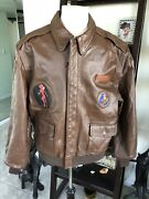 Authentic A-2 Horsehide Leather Flying Tigers Flight Jacket Extra Large Nice ✅✅