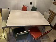 Vintage Walter Of Wabash Formica Chrome Kitchen Table Local Pickup Only