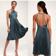 Ryse The Label Pia Pleated Dress Size M