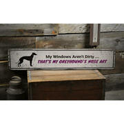 Greyhound Dog Vintage Distressed Sign Personalized Wood Sign
