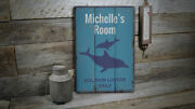 Dolphin Lovers Only Novelty Distressed Sign Personalized Wood Sign