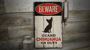 Chihuahua Novelty Distressed Sign, Personalized Wood Sign