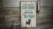 Yorkie Rustic Distressed Sign Personalized Wood Sign
