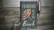 Beach Umbrella Rustic Distressed Sign Personalized Wood Sign