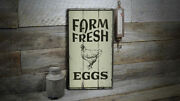 Egg Farm Vintage Distressed Sign Personalized Wood Sign