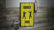 Karate Zone Vintage Distressed Sign Personalized Wood Sign