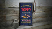 Saltwater Taffy Made Here Rustic Distressed Sign Personalized Wood Sign
