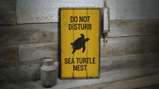 Sea Turtle Nest Vintage Distressed Sign, Personalized Wood Sign