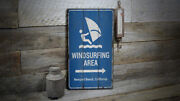 Windsurfing Area Arrow Vintage Distressed Sign Personalized Wood Sign