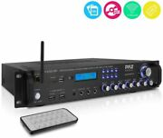 New Pyle 2000 Watt Home Stereo Receiver Amp Amplifier Am/fm Radio Aux-in Remote