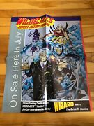 Wildc.a.t.s – Covert Action Teams Wizard 12 Promo Poster Jim Lee 17 X 21 1992