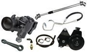 New 76-86 Jeep Cj Power Steering Gear Box Kit,4/6 Cyl Smog Bracket And Pulley,201