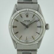 Rolex Oyster Perpetual Ref 6549 Ladies Midsize 31mm Stainless Steel Silver