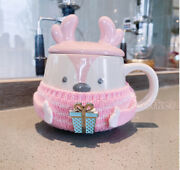 Starbucks Chinese 2020 Christmas Gift Stereo Pink Moose Sweater Ceramic Cup12oz