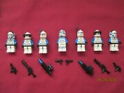 Lego Star Wars Minifigures Lot 501st Squad Clone Troopers And Weapons Jetpacks .