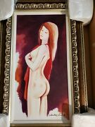Charles Lee Original Acrylic Painting On Canvas Only Onesigned Matted Framed