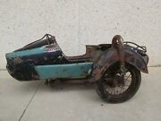 Sidecar For Old Motorcycle On The Left Side